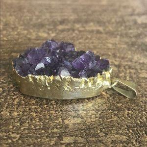Jewelry - Amethyst druzy charm